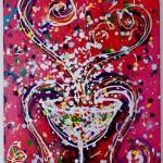 Charlotte_Olsson_Art_champagne_design_painting_swedishartist_exhibition_inerior