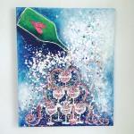 Charlotte_Olsson_Art_champagne_painting_fun_design_upcyclingart_heart_love