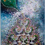 Charlotte_Olsson_Art_champagne_painting_swedishartist_bubbles_fun_love_upcyclingart