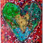 Charlotte_Olsson_Art_heart_painting_colors_gold_interior_love_design