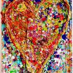 Charlotte_Olsson_Art_heart_upcyclingart_colors_painting_create_design_interior