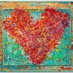 heart art painting