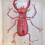 """""""Torres"""" 60x50cm. This stag beetle has girlpower like a true bull!"""