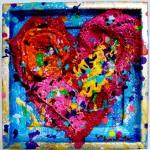 colorful art heart