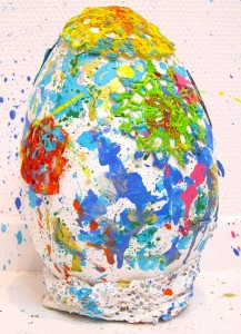 colorful egg sculpture