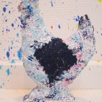 colorful sculpture hen