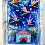 """""""Dragonflies at the carneval"""" 79x60cm. One life, one day, one choice. What would you do?"""