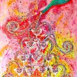 """""""Sparkling Bubbles"""" 100 x 140 cm"""
