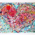 charlotte_olsson_art_design_pattern_swedishart_champagne_recyclingart_silk_exclusive_original_painting_heart_laces_interior_colorful_love