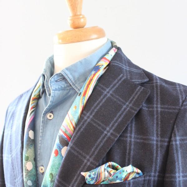 charlotte_olsson_art_design_pattern_swedishart_champagne_recyclingart_silk_exclusive_original_inspiration_pocketsquare_näsduk_classic_style